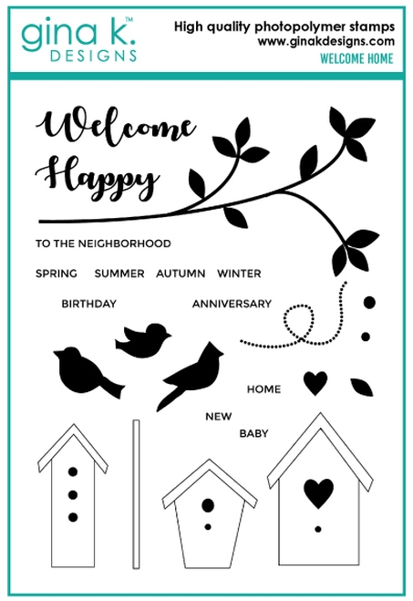 Gina K Designs WELCOME HOME Clear Stamps 6712 zoom image