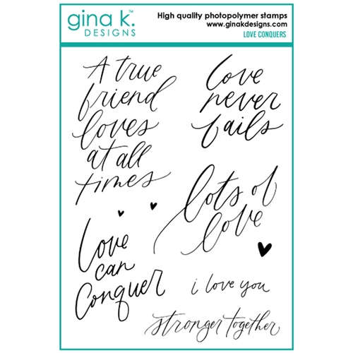 Gina K Designs LOVE CONQUERS Clear Stamps 6750 Preview Image