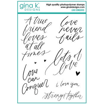 Gina K Designs LOVE CONQUERS Clear Stamps 6750