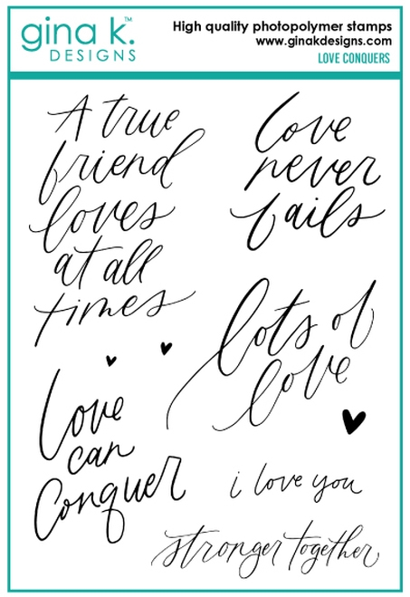 Gina K Designs LOVE CONQUERS Clear Stamps 6750 zoom image