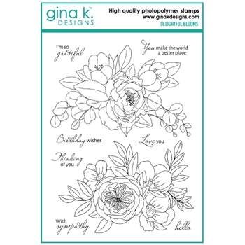 Gina K Designs DELIGHTFUL BLOOMS Clear Stamps 6774