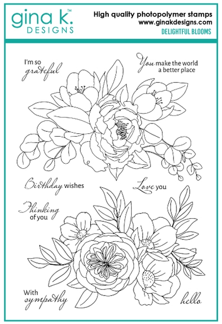 Gina K Designs DELIGHTFUL BLOOMS Clear Stamps 6774 zoom image
