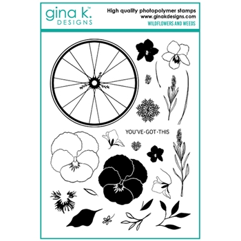 Gina K Designs WILDFLOWERS AND WEEDS Clear Stamps 6736