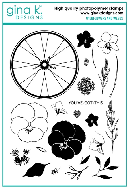 Gina K Designs WILDFLOWERS AND WEEDS Clear Stamps 6736 zoom image