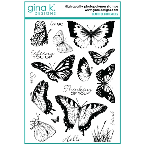 Gina K Designs BEAUTIFUL BUTTERFLIES Clear Stamps 6699 Preview Image