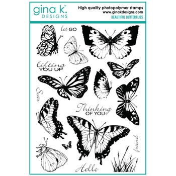 Gina K Designs BEAUTIFUL BUTTERFLIES Clear Stamps 6699