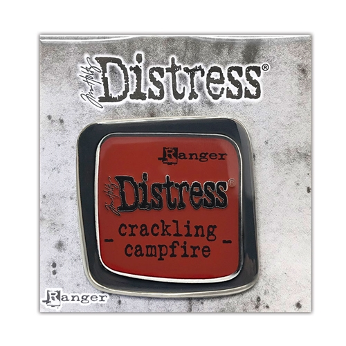 Tim Holtz Enamel Pin August 2020 New CRACKLING CAMPFIRE Ranger tdz73116 Preview Image