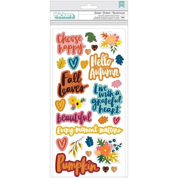 American Crafts Amy Tangerine PUFFY STICKERS Late Afternoon 369679
