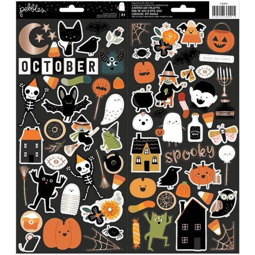 Crate Paper SPOOKY 6 x 12 Cardstock Stickers 736991 Preview Image