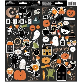 Crate Paper SPOOKY 6 x 12 Cardstock Stickers 736991