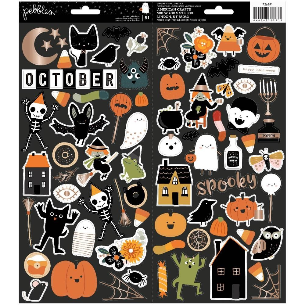 Crate Paper SPOOKY 6 x 12 Cardstock Stickers 736991 zoom image