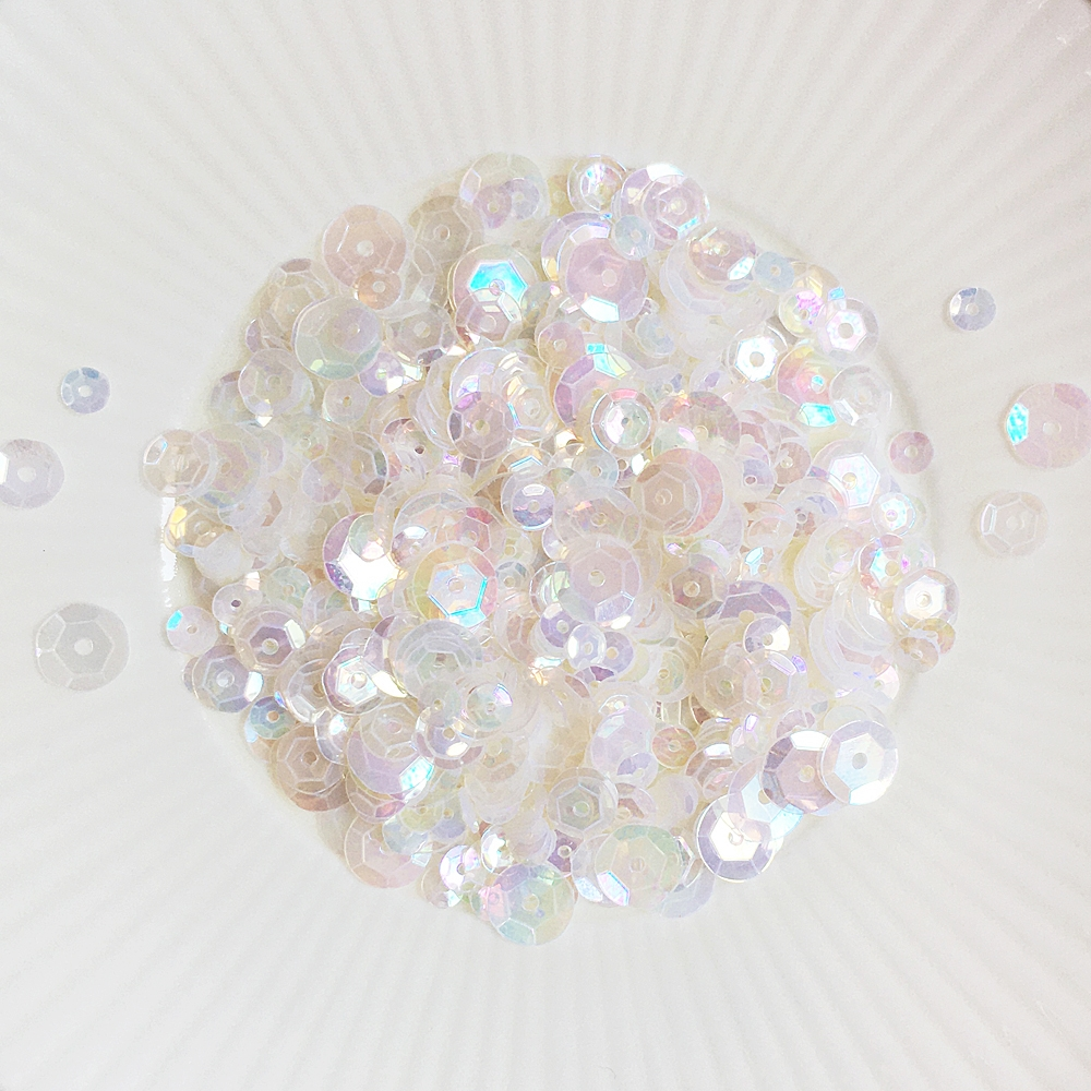 Little Things From Lucy's Cards MOTHER OF PEARL Sequin Mix LBsm56 zoom image
