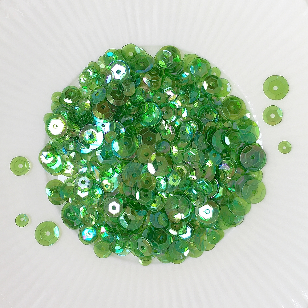 Little Things From Lucy's Cards SHAMROCK Sequin Mix LBSM58 zoom image