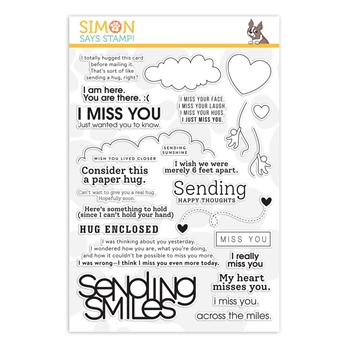 Simon Says Clear Stamps JUST MISS YOU sss202088