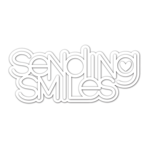 Simon Says Stamp Sending Smiles Word and Shadow Die Set