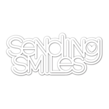 Simon Says Stamp SENDING SMILES WORD AND SHADOW Wafer Dies sssd112178