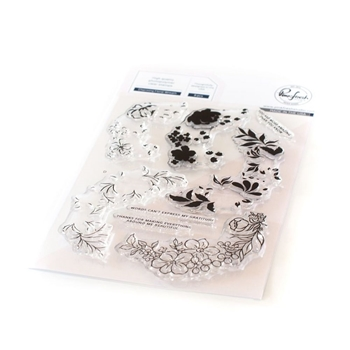 RESERVE PinkFresh Studio CHARMING FLORAL WREATH Clear Stamp Set pfcs1820
