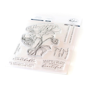 RESERVE PinkFresh Studio THANKFUL FOR FRIENDS Clear Stamp Set pfcs1920