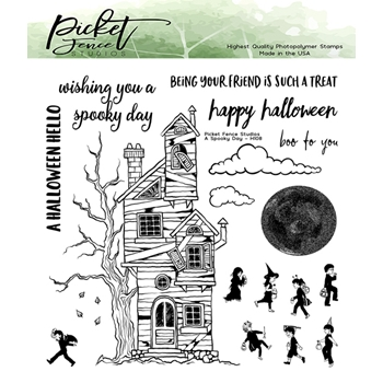 Picket Fence Studios A SPOOKY DAY Clear Stamps h108