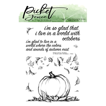 Picket Fence Studios A WORLD OF OCTOBERS Clear Stamps f143