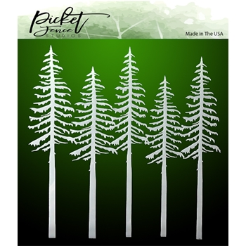Picket Fence Studios EVERGREENS 6x6 Mask sc183