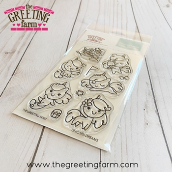 The Greeting Farm UNICORN DREAMS Clear Stamps tgf561