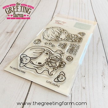 The Greeting Farm CUTE COUPLE Clear Stamps tgf563