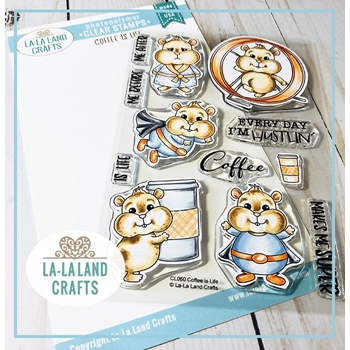 La-La Land Crafts Clear Stamps COFFEE IS LIFE CL060