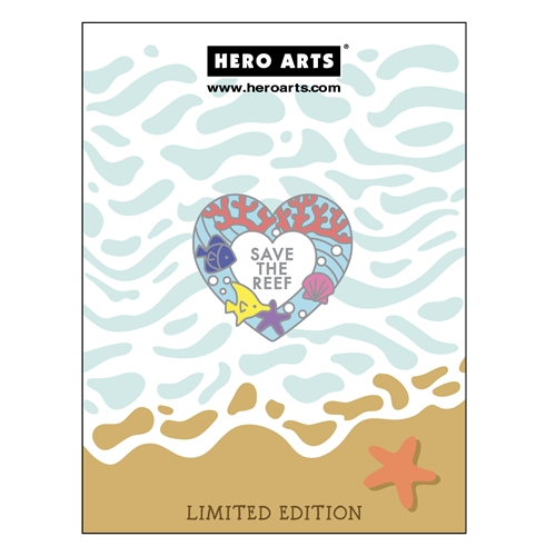Hero Arts SAVE THE REEF Enamel Pin CH329 Preview Image