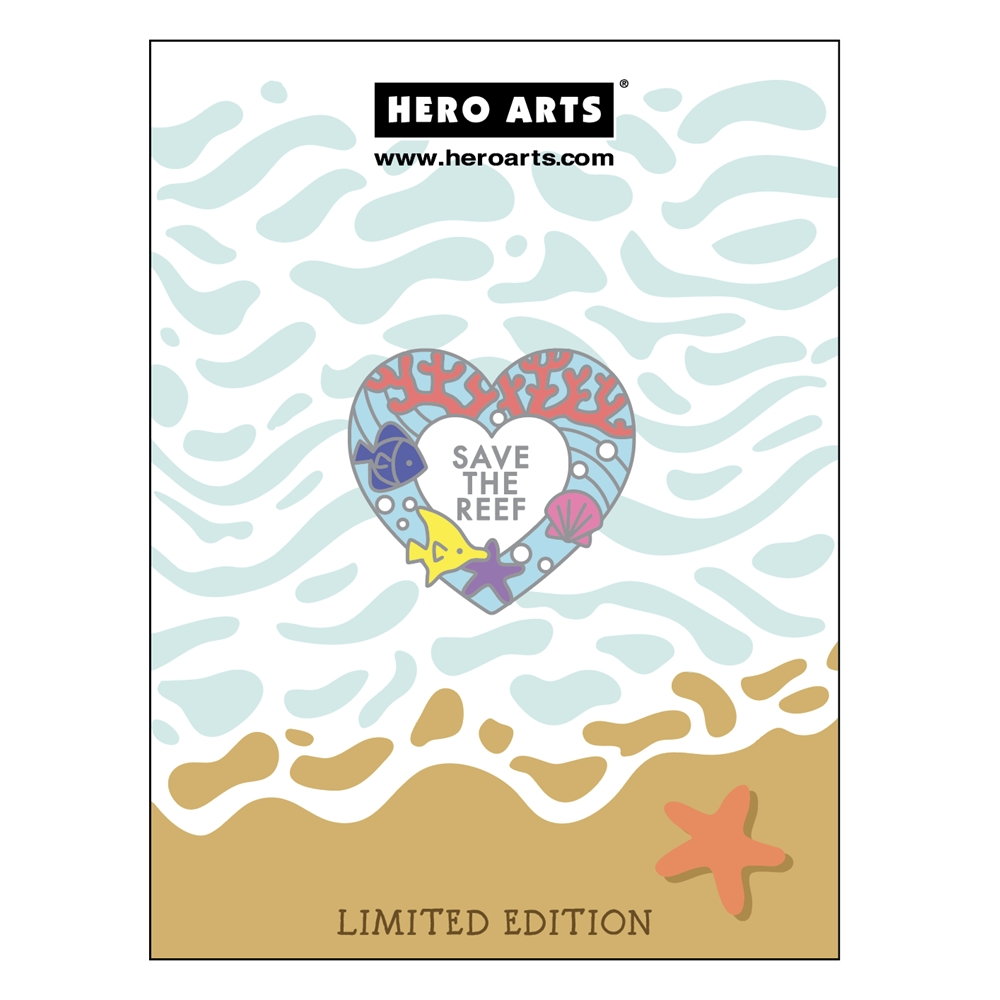Hero Arts SAVE THE REEF Enamel Pin CH329 zoom image