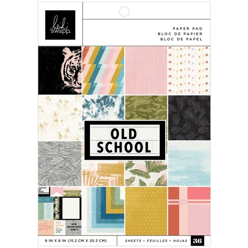 Heidi Swapp OLD SCHOOL 6x8 inch paper pad 315534 Preview Image