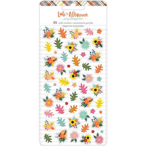 American Crafts Amy Tangerine LATE AFTERNOON Mini Puffy Stickers 369686 Preview Image