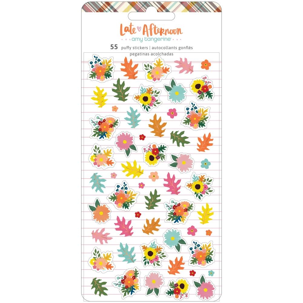 American Crafts Amy Tangerine LATE AFTERNOON Mini Puffy Stickers 369686 zoom image