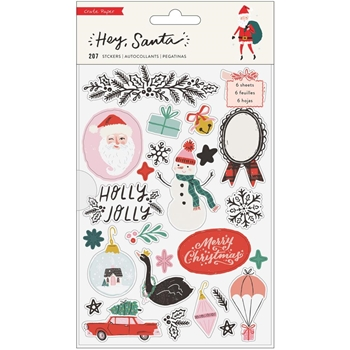 Crate Paper HEY SANTA Sticker Book 373217