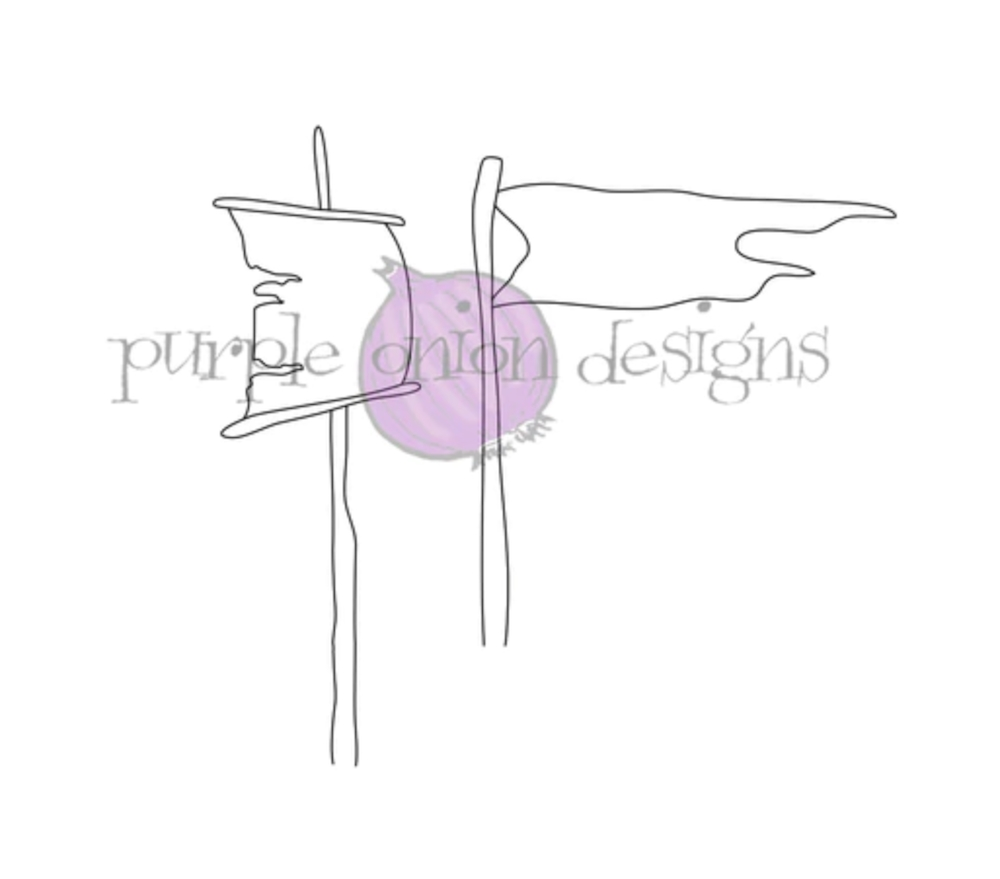 Purple Onion Designs SAIL AND FLAG Cling Stamp pod4027* zoom image
