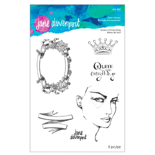 JDS-059 Spellbinders Jane Davenport QUEEN OF EVERYTHING Clear Stamps  Preview Image