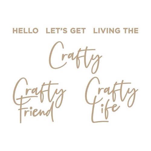 GLP-214 Spellbinders CRAFTY SENTIMENTS Glimmer Hot Foil Plates Preview Image