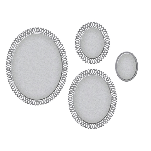 S5-422 Spellbinders PICOT PEITIE OVALS Etched Dies Preview Image