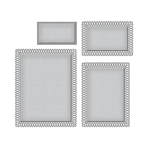 S5-434 Spellbinders PICOT PETITE RECTANGLES Etched Dies Preview Image