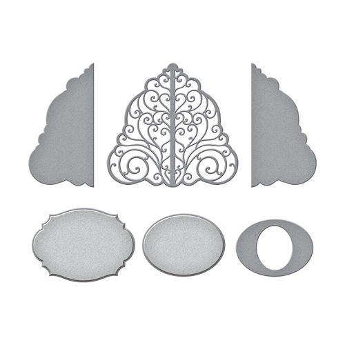 S4-1072 Spellbinders BED OF LACE Etched Dies  Preview Image