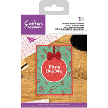 Crafter's Companion MODERN MERRY CHRISTMAS Clear Acrylic Stamp cccastmmc*