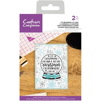 Crafter's Companion IT'S BEGINNING TO LOOK Clear Acrylic Stamps cccastbtl*