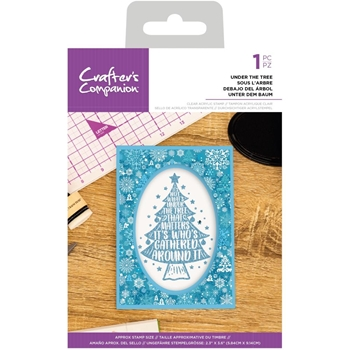 Crafter's Companion UNDER THE TREE Clear Acrylic Stamp cccastutt*
