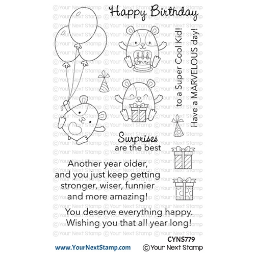 Your Next Stamp HAMMIE HAPPY BIRTHDAY Clear cyns779 Preview Image