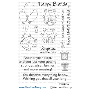 Your Next Stamp HAMMIE HAPPY BIRTHDAY Clear cyns779