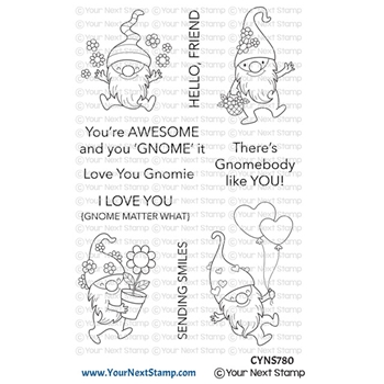 Your Next Stamp HAPPY GNOMIES Clear cyns780