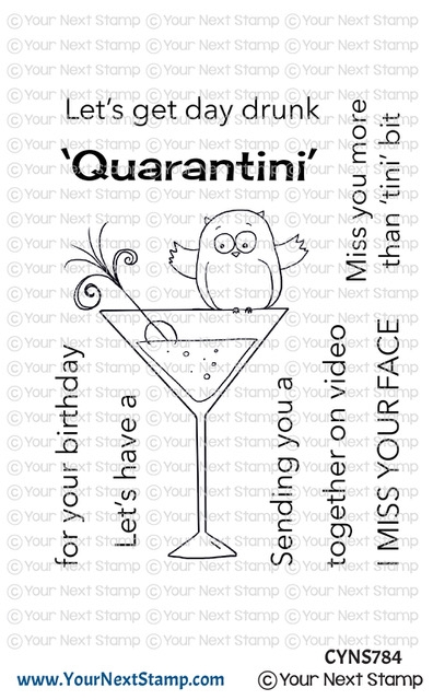 Your Next Stamp QUARANTINI Clear cyns784 zoom image