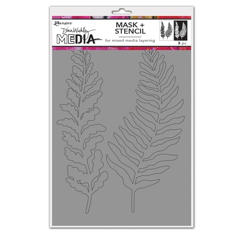 Dina Wakley CURLY FROND Media Mask And Stencil mds74540 Preview Image