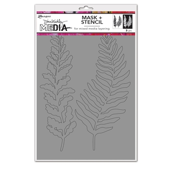 Dina Wakley CURLY FROND Media Mask And Stencil mds74540