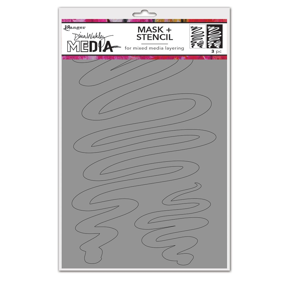 Dina Wakley MEANDERING Media Mask And Stencil mds74588 zoom image